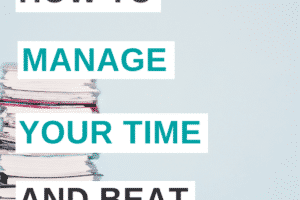 5 Steps to Manage Your Time and Conquer Overwhelm! Take control of your time at home, at work with these time management tips. Perfect for moms, students, even kids! Learn to schedule your time with these tips and strategies so you can complete all the projects in your life.