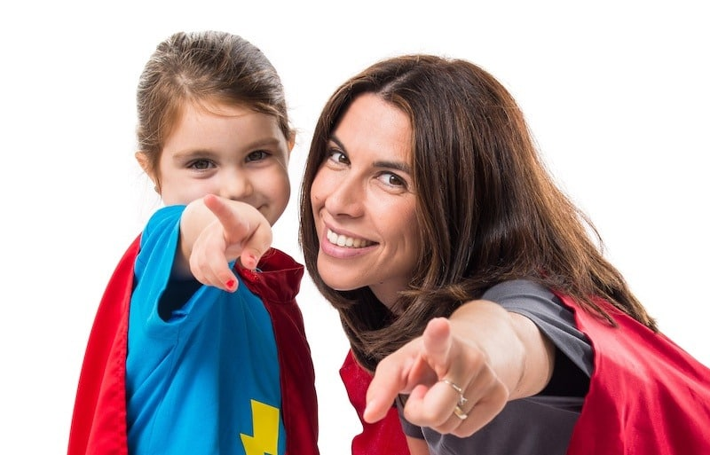 Super Mum who helps perfectionist child be perfect all the time.