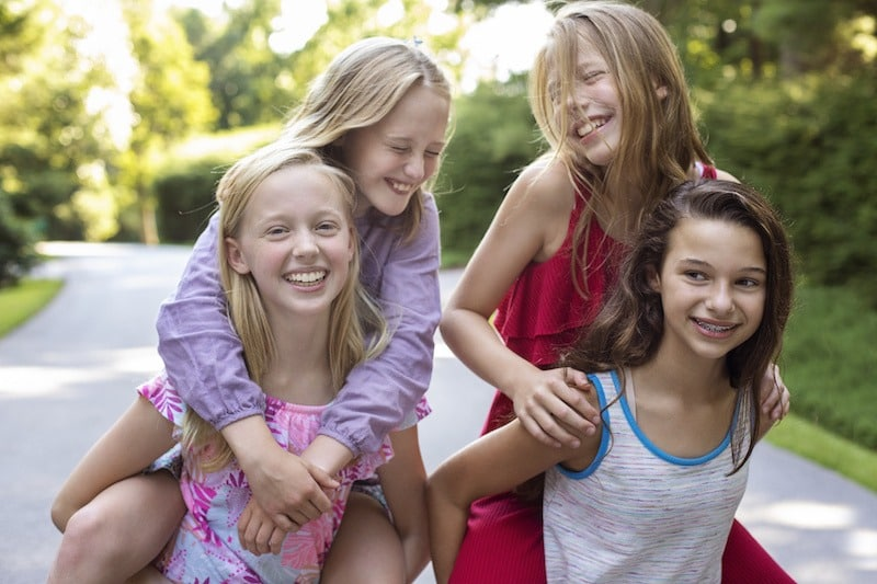 Group of girls who are friends. Your child will make new friends when starting secondary school.
